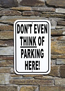 No Parking Sign - Humorous