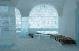 Icehotel in Jukkaj?rvi, Kiruna, north of Sweden