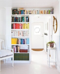 Shelving around door