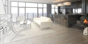 Elegance of a Loft (drawing) - 3d visualization